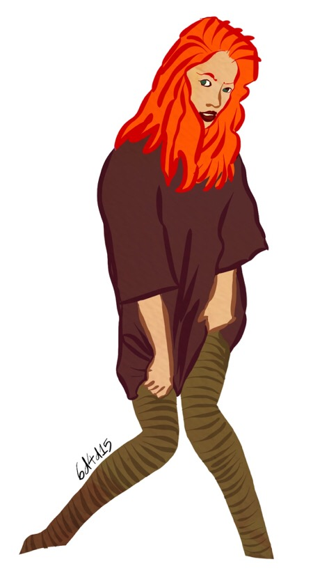 Red head girl 6dilly4dally illustration