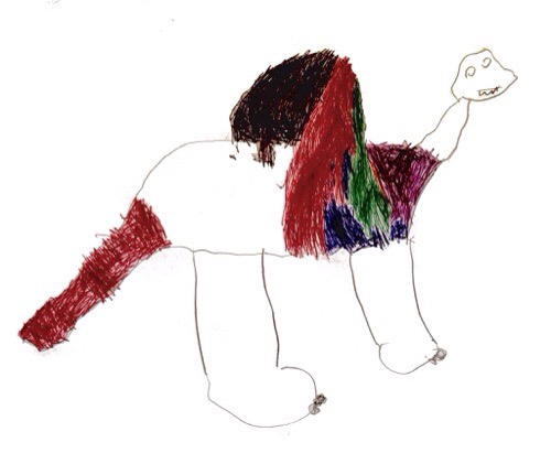 Jurassic Draw dinosaur by Roman